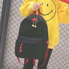 Youme - 两件套: 帆布背包 + 拉链小袋
