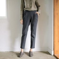 JUSTONE - Band-Waist Tapered Pants