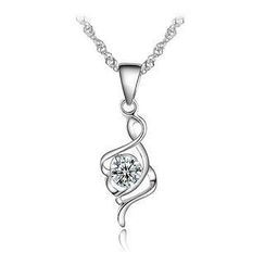 BELEC - 925 sterling silver musical note pendant with necklace