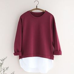 11.STREET - Mock Two Piece Pullover