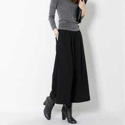 FASHION DIVA - Band-Waist Wide-Leg Dress Pants