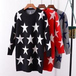 Tulander - Star Print Long Sweater