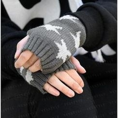 SO Central - Star Print Fringless Mittens