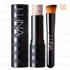LUNA - Essence Stick Foundation (#21 Light Beige) + Face Brush
