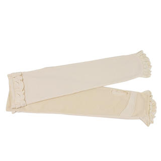 Momiton - Frilled Fingerless Long Mittens