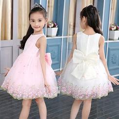 Little Princess - 兒童無袖薄紗連衣裙