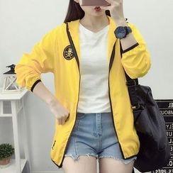 Yohana - Embroidered Hooded Zip Jacket