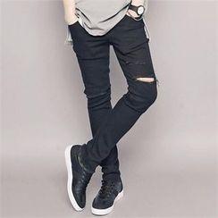 TOMONARI - Distressed Skinny Pants