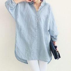 Carabecca - 纯色长衬衫