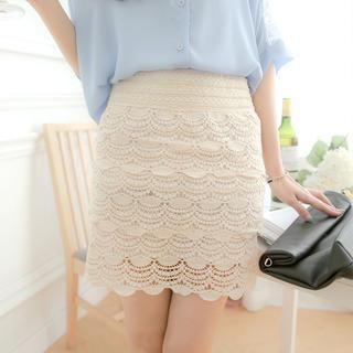 Tokyo Fashion - Crochet Pencil Skirt