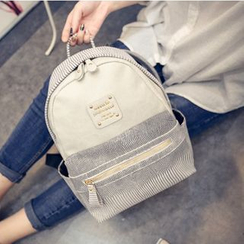 Crystal - Faux Leather Backpack