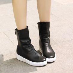 Shoes Galore - Hidden Wedge Short Boots