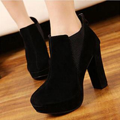 SouthBay Shoes - Platform Chunky Heel Ankle Boots
