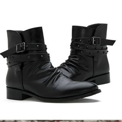 Preppy Boys - Belted Studded Short Boots