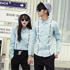 Evolu Fashion - Couple Matching Lettering Shirt