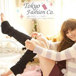 东京著衣 - 饰毛球袜套