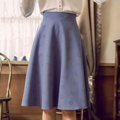 Tokyo Fashion - Printed A-Line Skirt