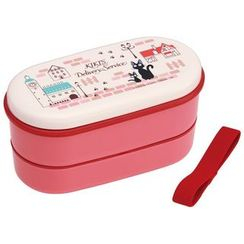 Skater - Kiki's Delivery Service Oval 2 Layer Lunch Box (Machi) (with Chopsticks)