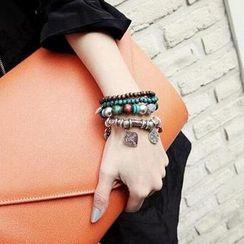 Ticoo - Layered Charm Bracelet