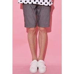Ohkkage - Flat-Front Shorts
