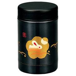 Hakoya - Hakoya Stainless Food Pot Kuro Hanko Usagi