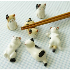 Cute Essentials - Set of 6: Cat Chopsticks Rest