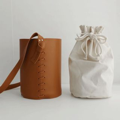 JUSTONE - Bucket Bag with Inset Drawstring Pouch
