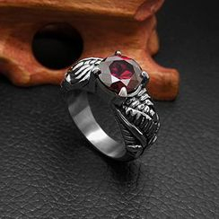 Andante - Faux Gemstone Titanium Steel Ring