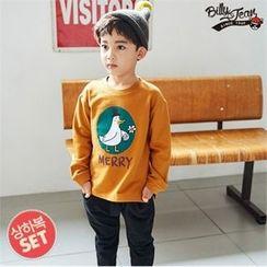 BILLY JEAN - Kids Set: Duck Print T-Shirt + Band-Waist Pants