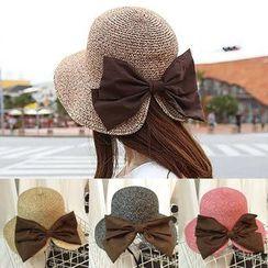 SHUMI - Bow Straw Hat