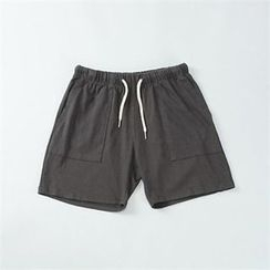 THE COVER - Drawstring-Waist Sweat Shorts
