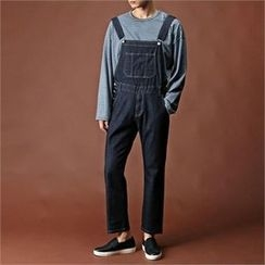 THE COVER - Washed Denim Suspender Pants