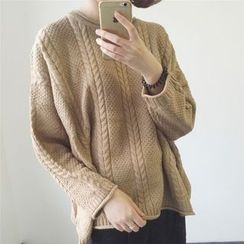 Emeline - Cable-Knit Oversized Sweater