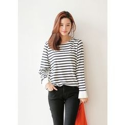 J-ANN - Round-Neck Striped T-Shirt