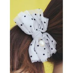 kitsch island - Dotted Bow Hair Clamp