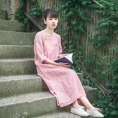 tete - 七分袖直筒連衣裙