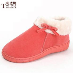 Rivari - Bow Fleece Slip Ons