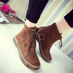 SouthBay Shoes - Lace-Up Short Boots