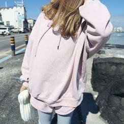 YUKISHU - Set: Plain Hoodie + Sweat Shorts