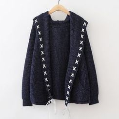 ninna nanna - Hooded Thick Cardigan