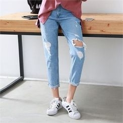 PIPPIN - Distressed Baggy-Fit Jeans