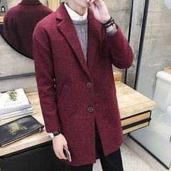 DUKESEDAN - Notch Lapel Woolen Coat