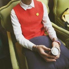 Breeson - Plain Knit Vest