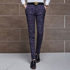Besto - Jacquard Dress Pants