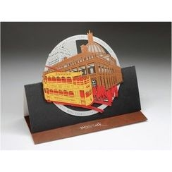 POSTalk - Large Pop-Up Greeting Card - Classic Tram