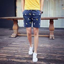 Chic Maison - 图案短裤