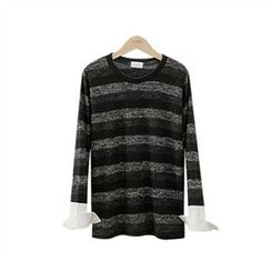 PEPER - Round-Neck Striped T-Shirt