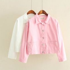 Nycto - Embroidered Button Down Jacket