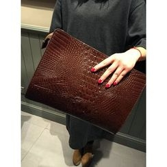 BagBuzz - Embossed Faux Leather Clutch