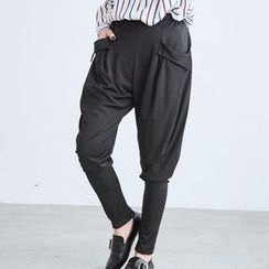 BAIMOMO - Pocket-Accent Harem Pants